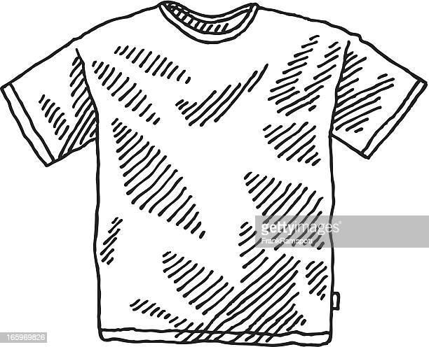 men's t-shirt drawing - t shirt stock illustrations, clip art, cartoons, & icons