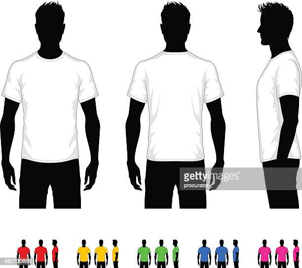 men's t-shirt - the human body stock illustrations, clip art, cartoons, & icons
