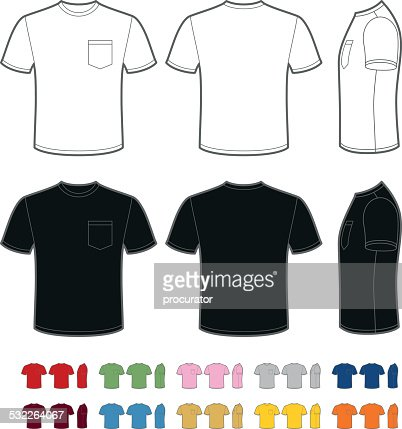 Mens tshirt with pocket vector art getty images pronofoot35fo Gallery
