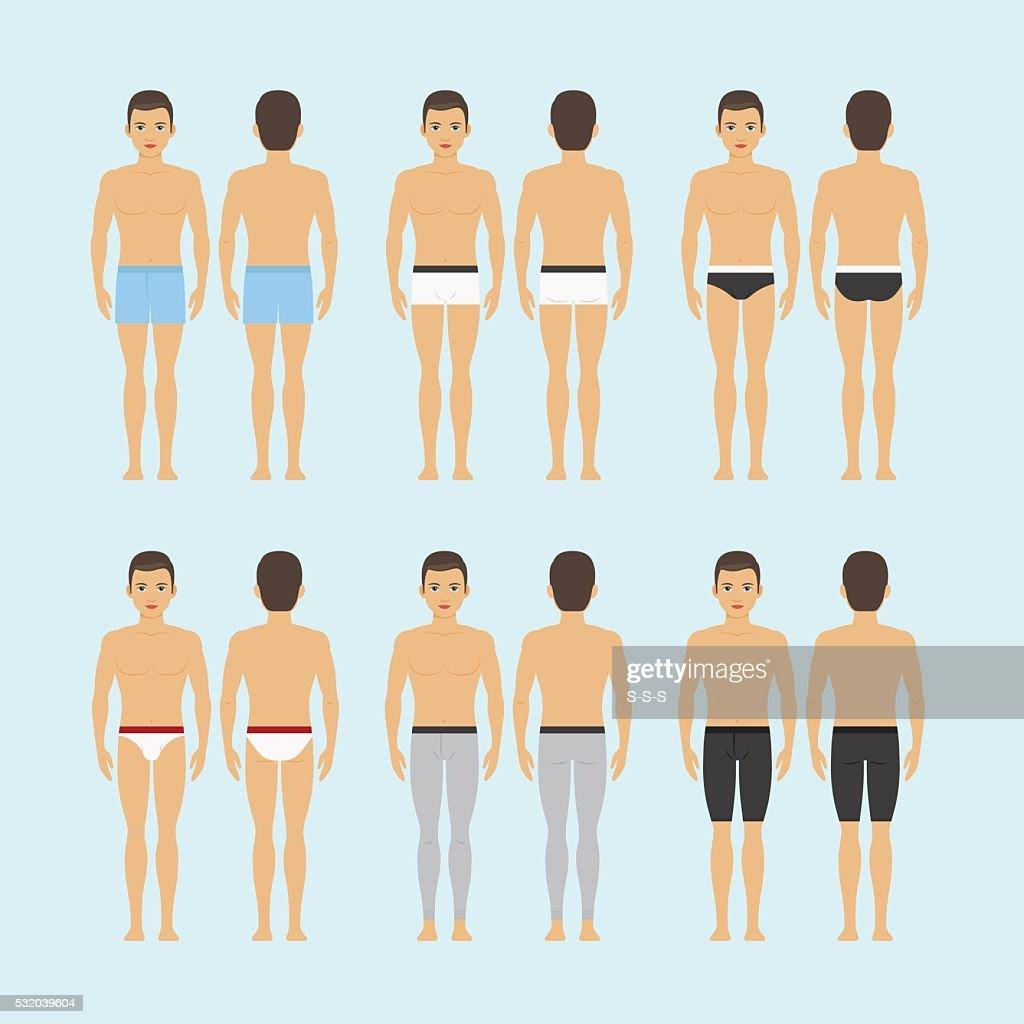 Mens underwear vector icons