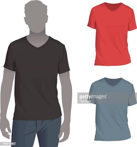 男性 mockup テンプレートの v ネック t シャツ - vネック点のイラスト素材/クリップアート素材/マンガ素材/アイコン素材