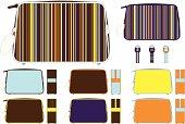 Mens Washbag with Retro Colored Stripe