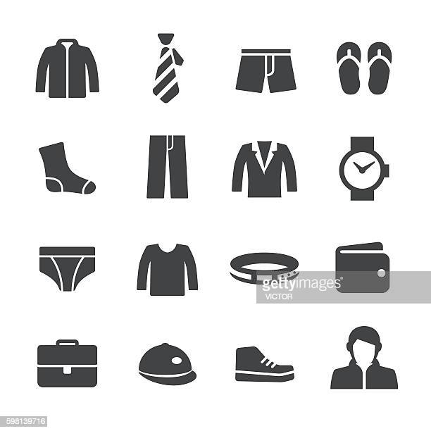 mens wear icons - acme series - sweater stock illustrations, clip art, cartoons, & icons