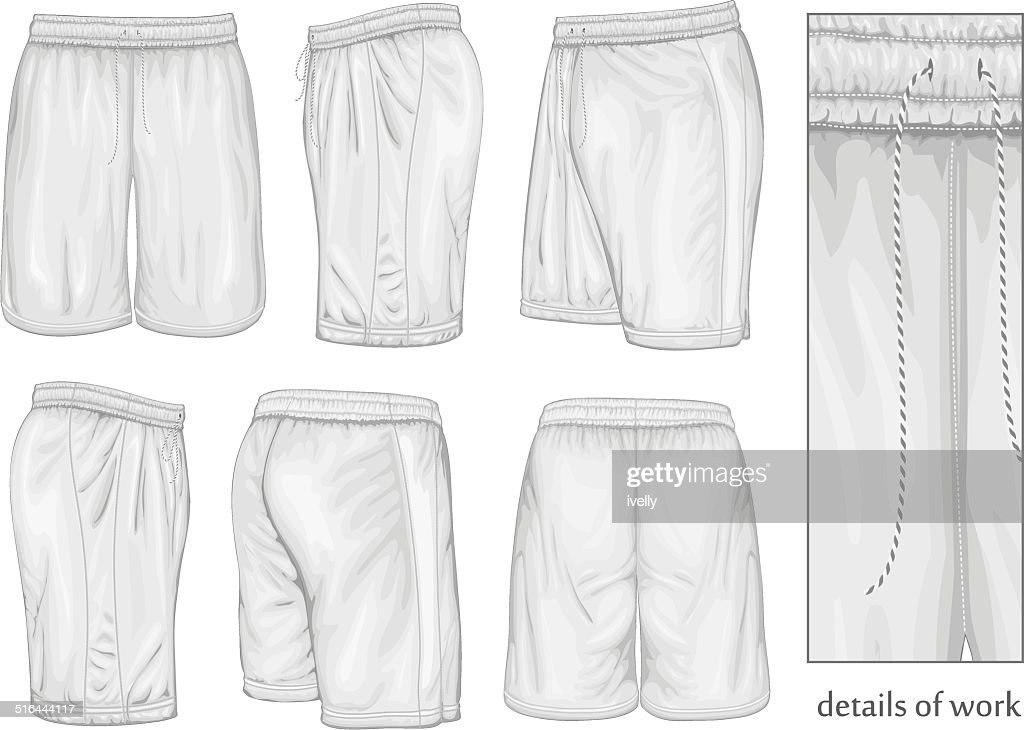 Men's white sport shorts.