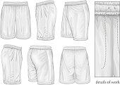 Men's white sport shorts.