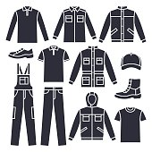 Men's working clothes
