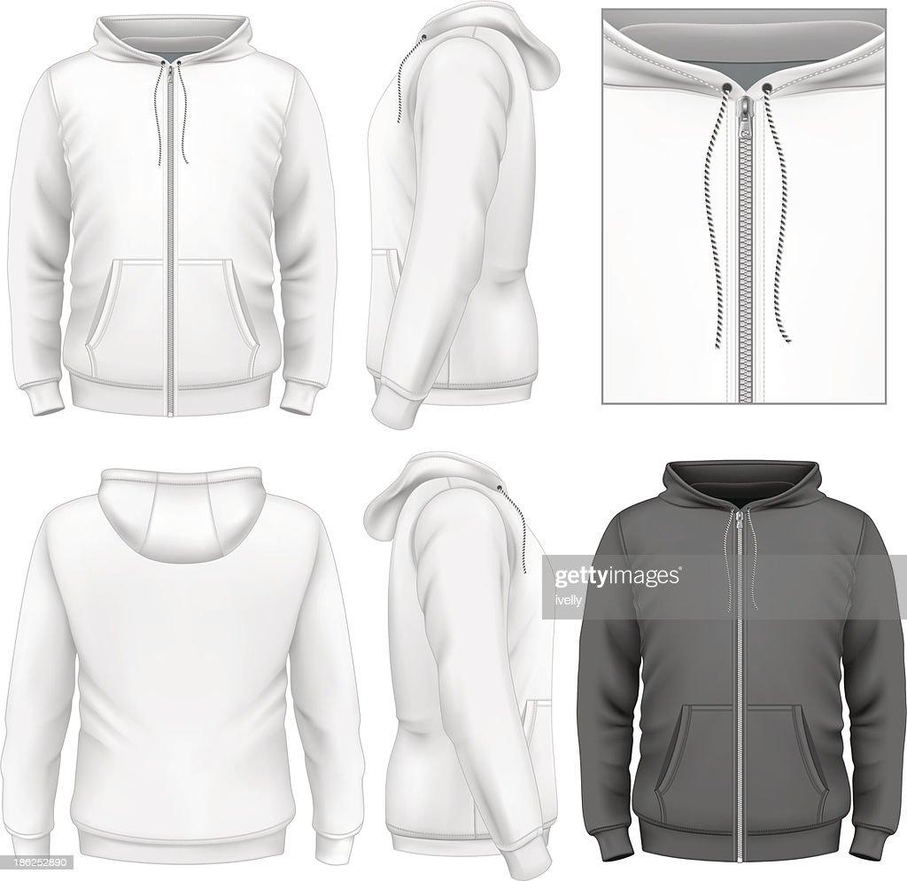 Men's zip hoodie design template