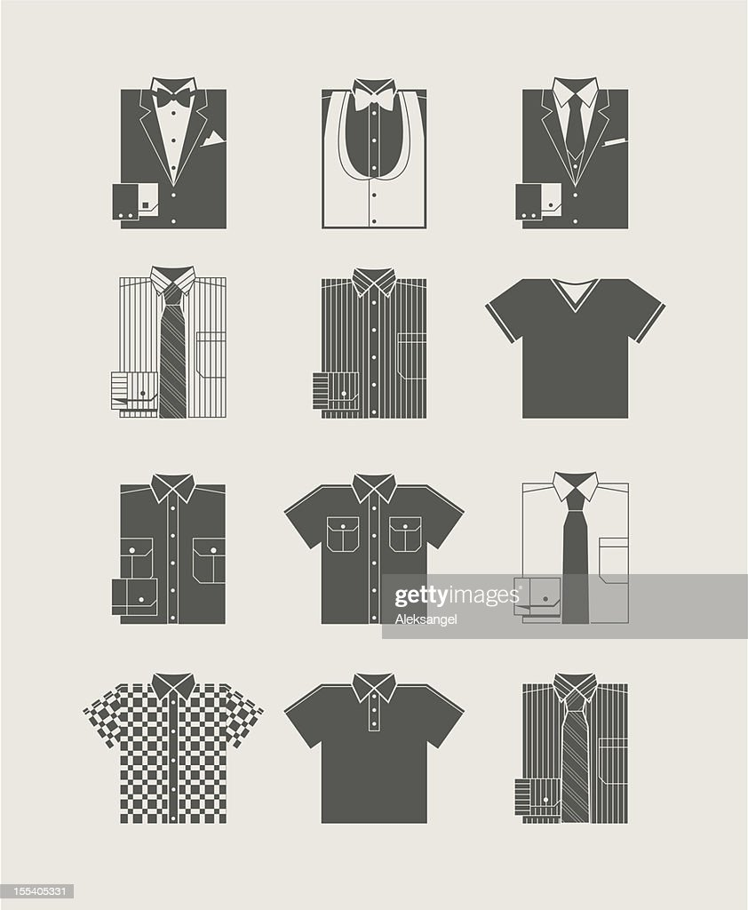 Menswear. Icon set.