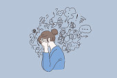 Mental disorder, finding answers, confusion concept