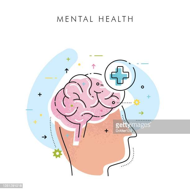 mental health concept - mental health professional stock illustrations