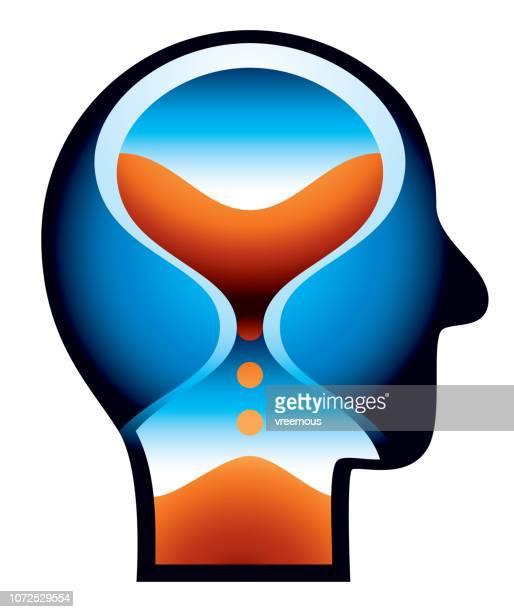 stockillustraties, clipart, cartoons en iconen met geestelijke gezondheid, dementie en de ziekte van alzheimer pictogram - ziekte van alzheimer