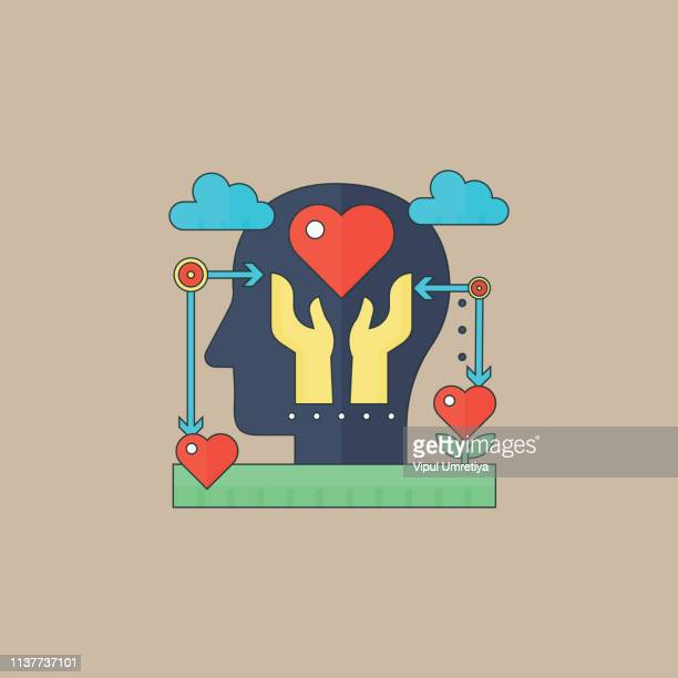 mental health icon - mental health professional stock illustrations