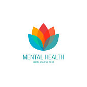 Mental health vector concept in simple flat style