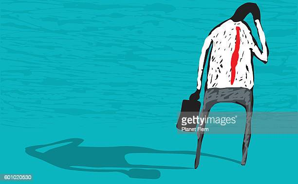 mental health - overworked stock illustrations