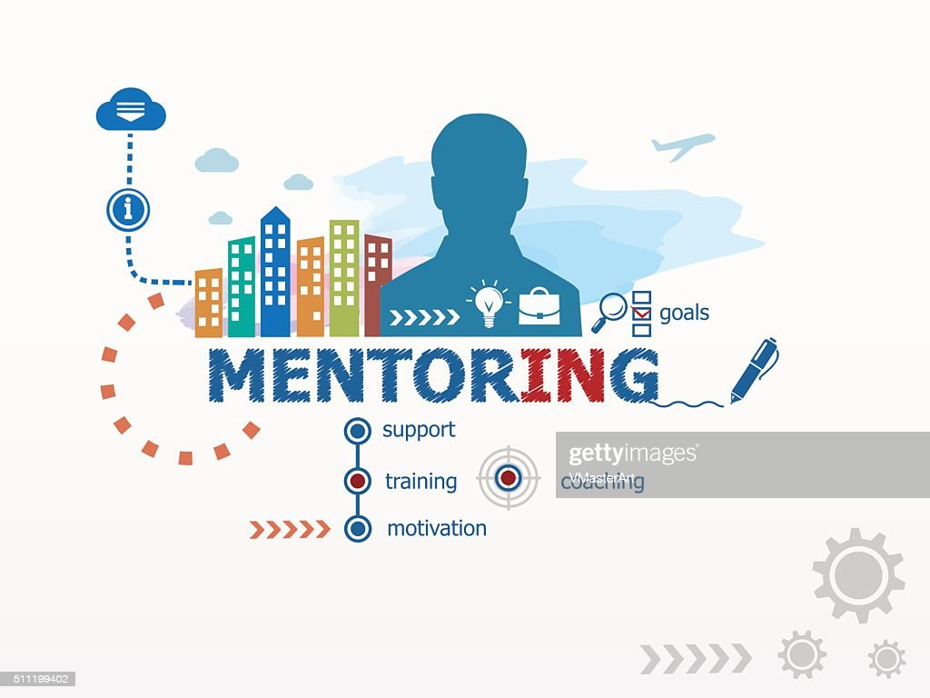Mentoring concept and business man.