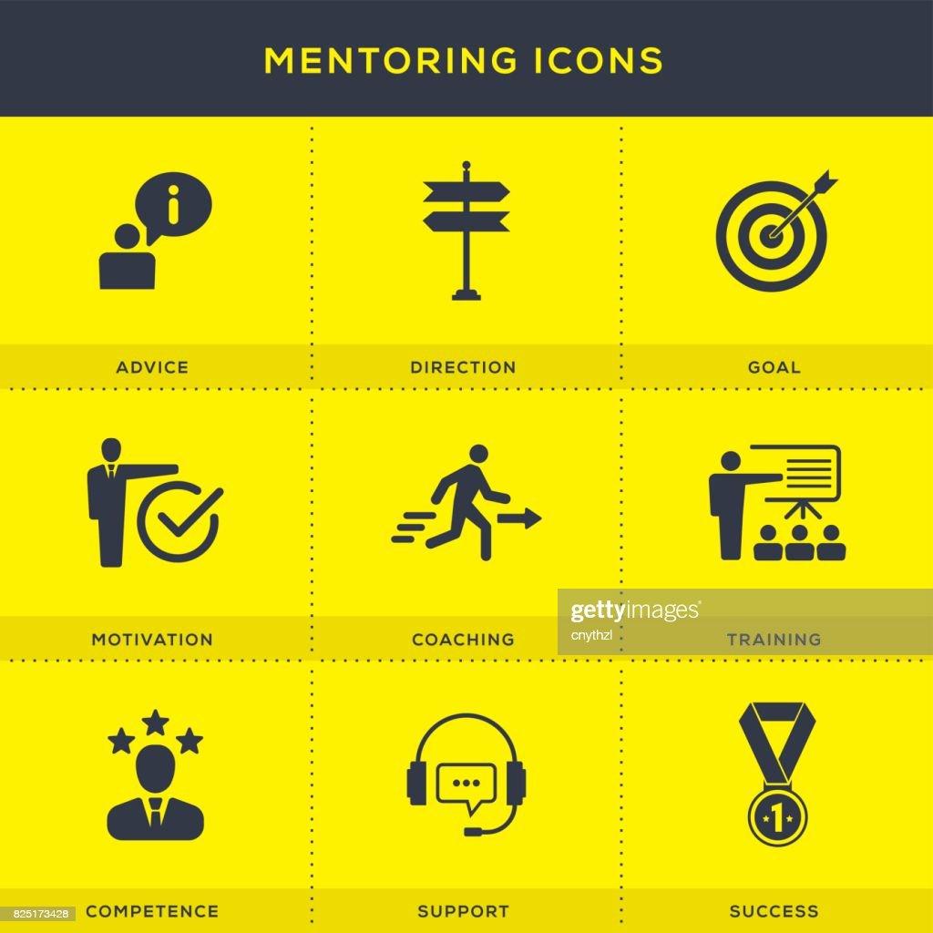 Mentoring Concept Icon Set