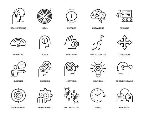 Mentoring Icon Set - gettyimageskorea