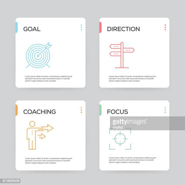 mentoring infographic design template - direction stock illustrations