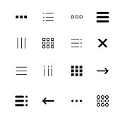 Menu and ui icons set