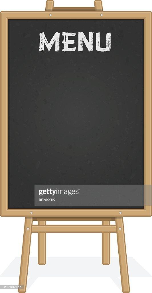 Menu black board.