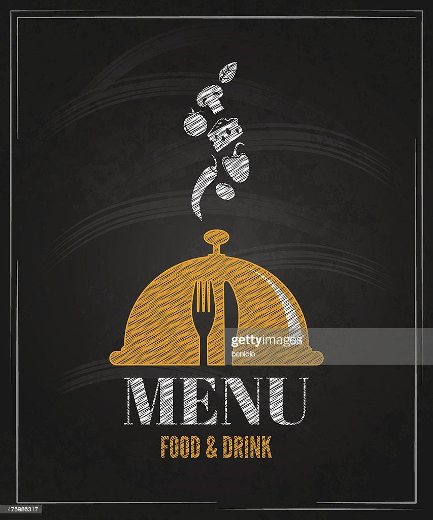 menu board chalk design background