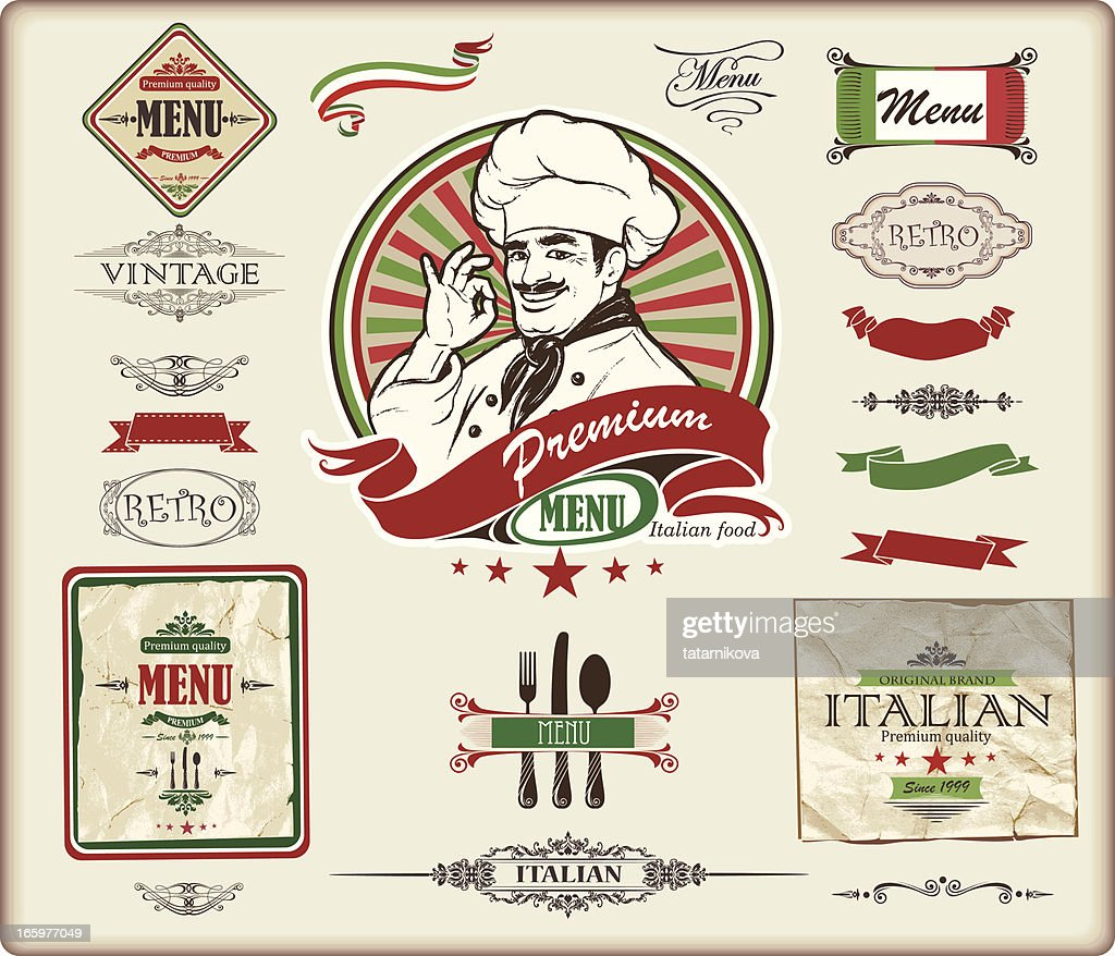 ITALIAN menu design