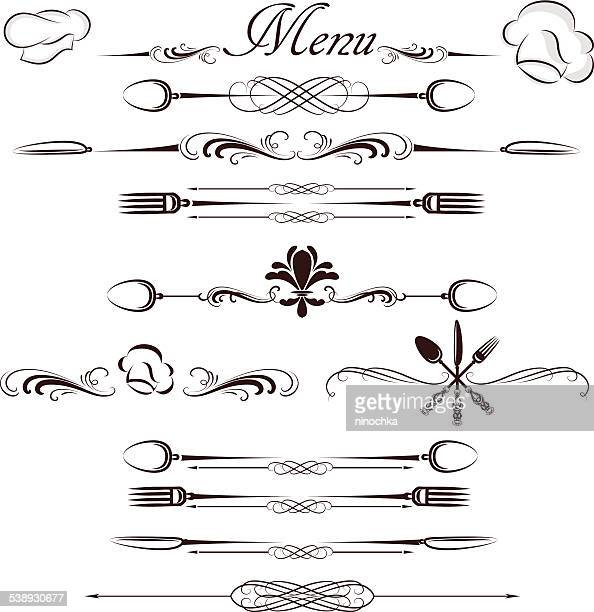 menu divider - menu background stock illustrations