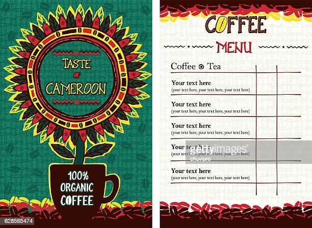 Menu for cafe, bar, coffeehouse, restaurant - Taste of Cameroon