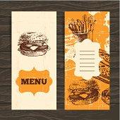 Menu for restaurant, cafe, bar, coffeehouse