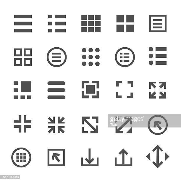 menu icons - video editing stock illustrations, clip art, cartoons, & icons