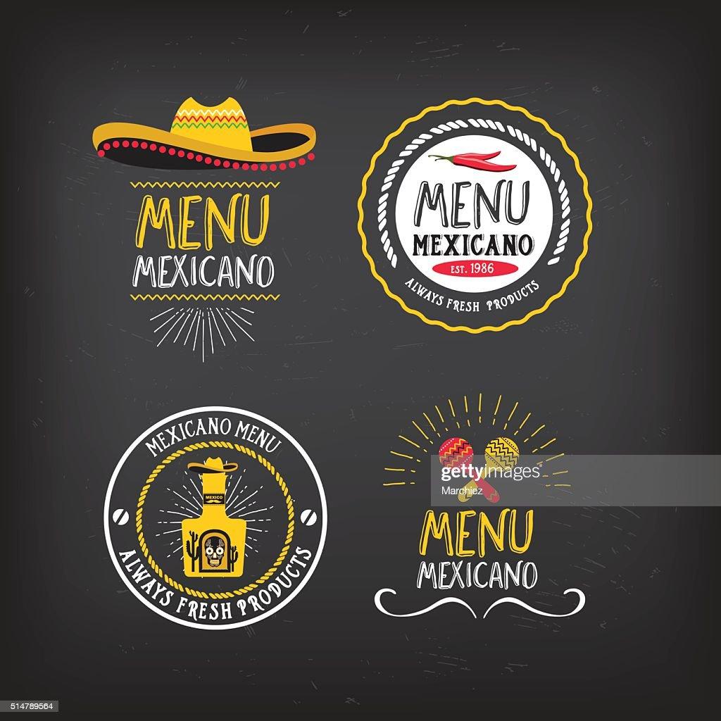 Menu mexican badge design.