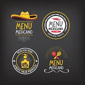 Menu mexican badge design.