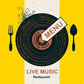 menu restaurant with live music