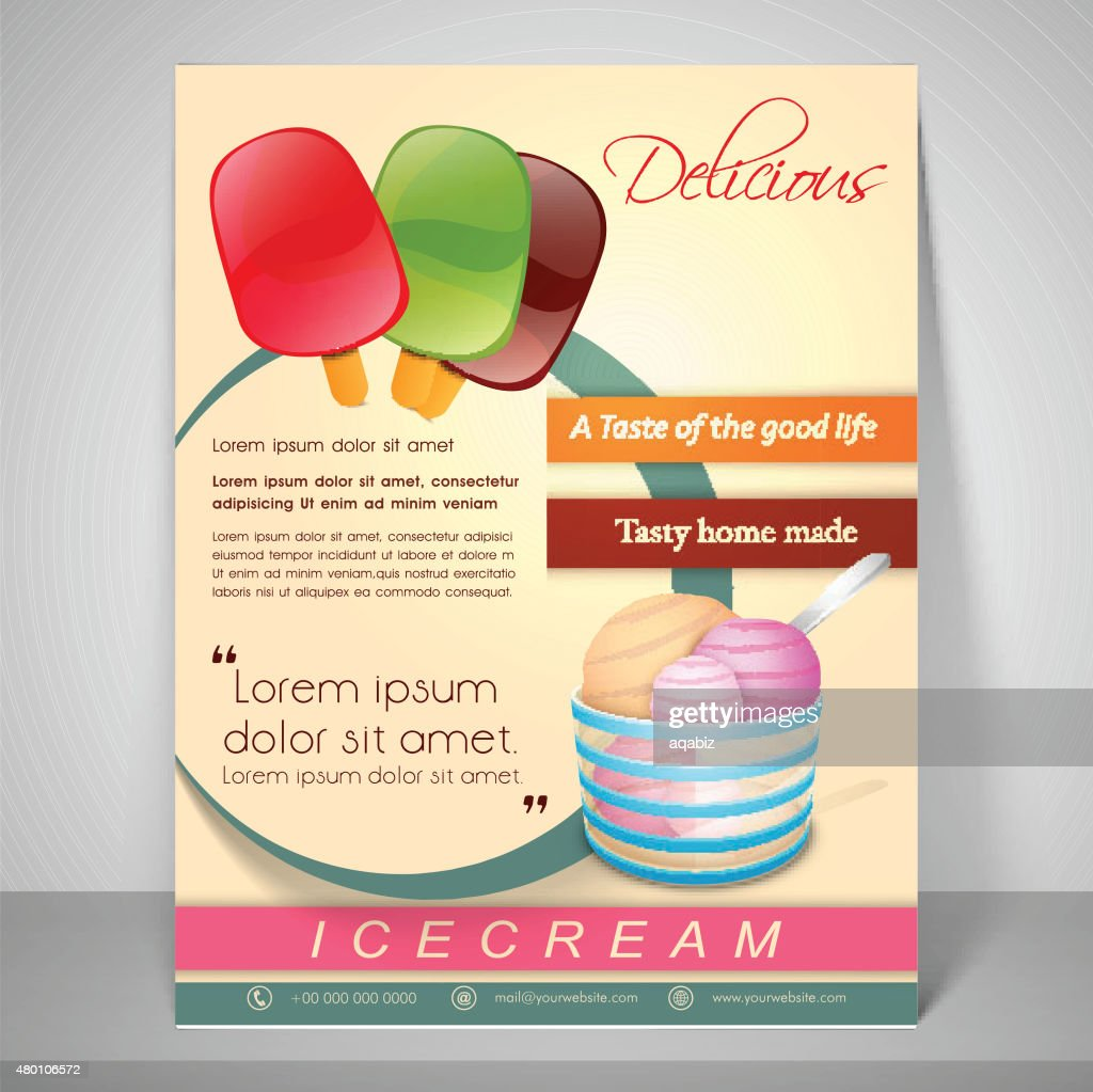 Menu Template And Banner For Ice Cream Parlour Vector Art | Getty Images