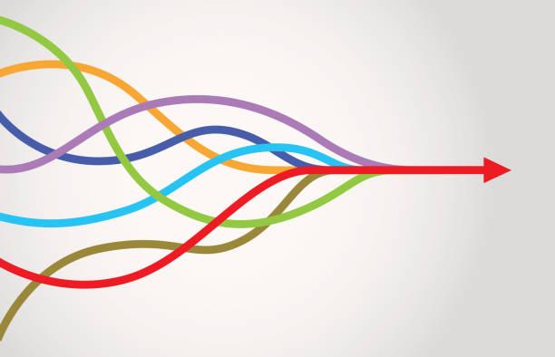 合併箭頭資訊圖 - 聯繫 幅插畫檔、美工圖案、卡通及圖標