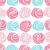 Meringues sweet pattern.
