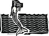 Mermaid and Waves