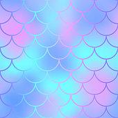 Mermaid seamless pattern. Magic fishscale seamless background
