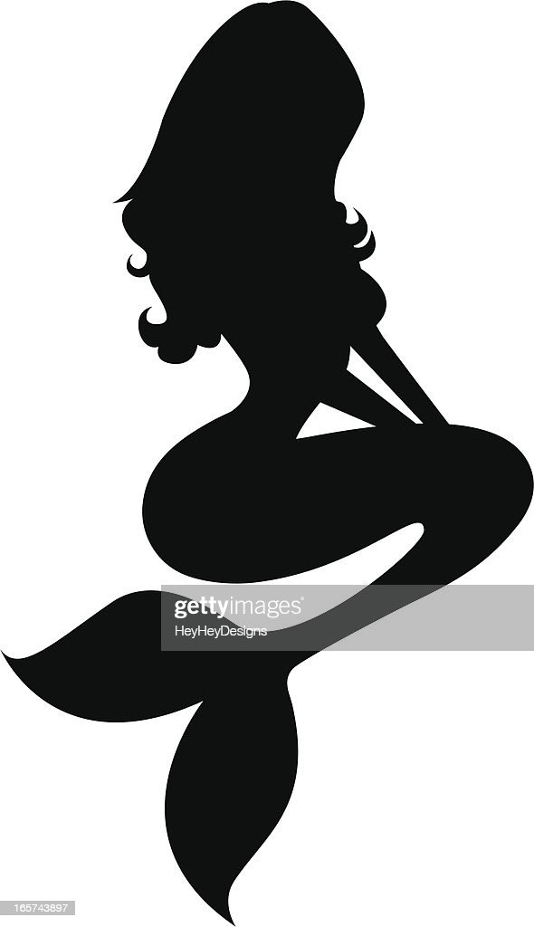 Mermaid Silhouette Vector Art | Getty Images