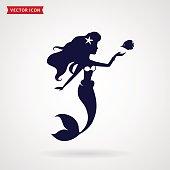 Mermaid vector design element.