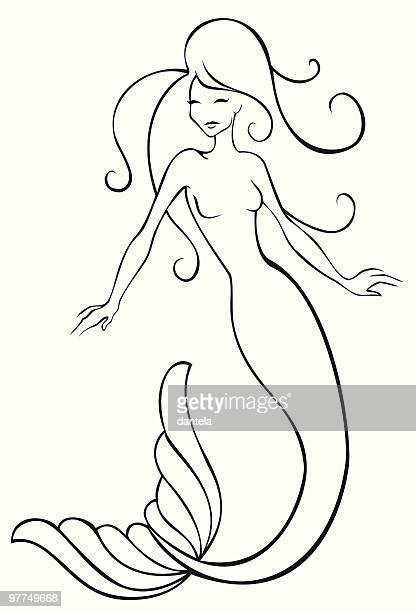 Mermaid Stock Vector Art Royalty Free Graphics Getty Images