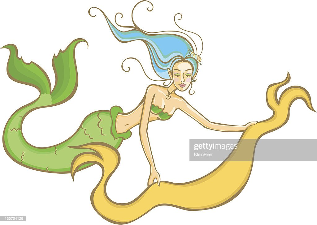 Mermaid with a banner