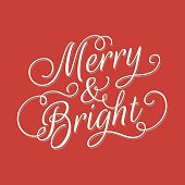 Merry and Bright lettering