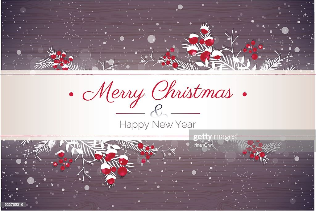 Merry christmas and Happy new year 2017 holiday background.