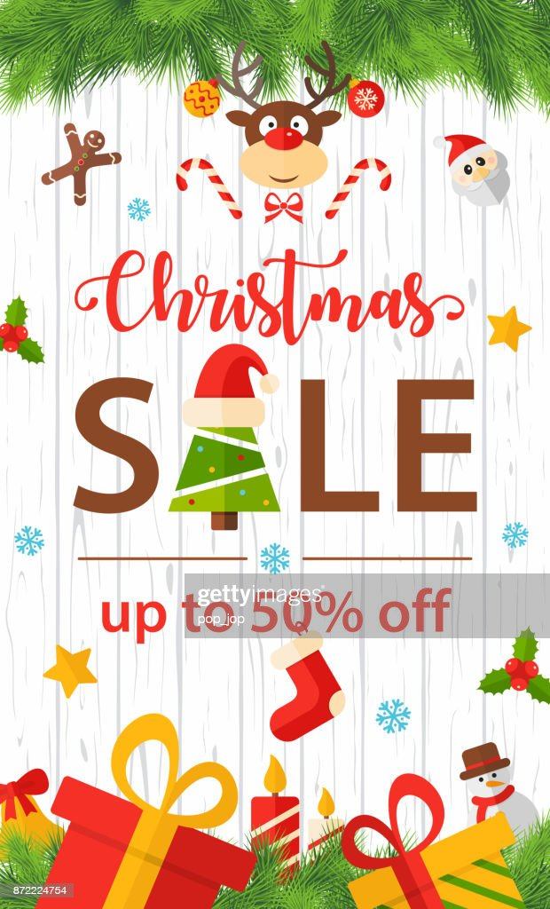 merry christmas and happy new year cartoon flat vertical banner vector illustration vector art
