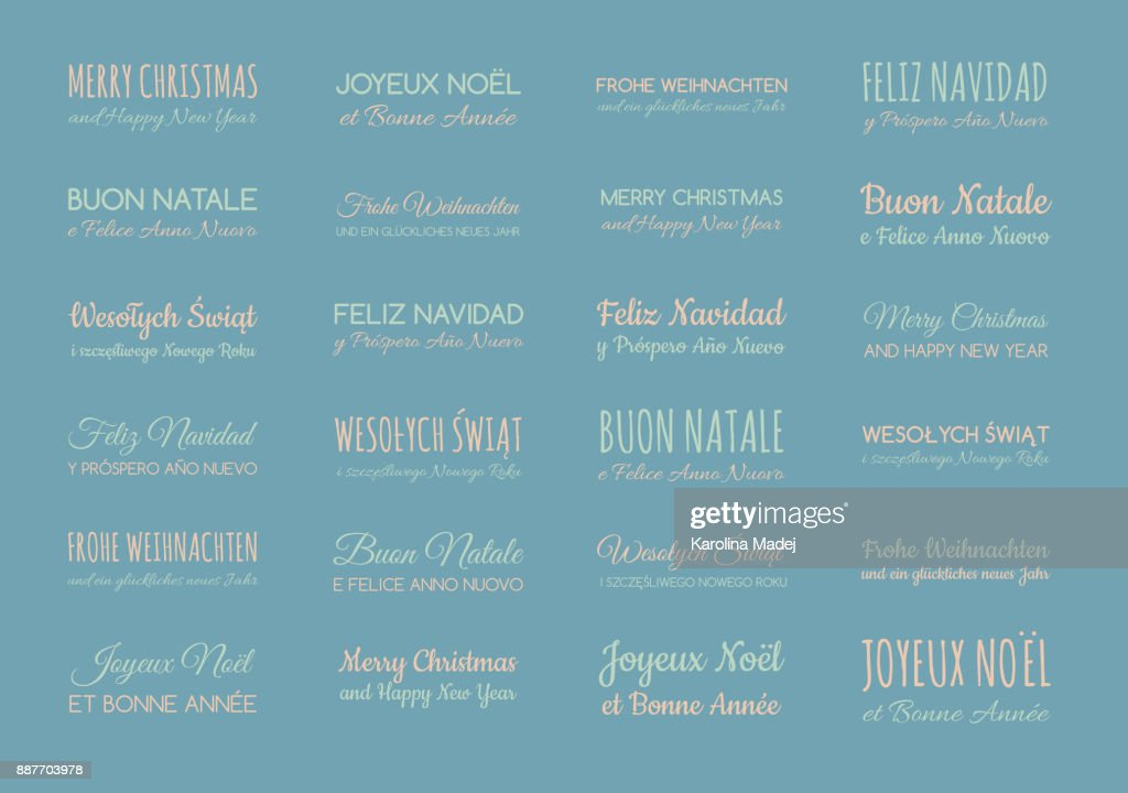 Merry christmas and happy new year in different languages english merry christmas and happy new year in different languages english spanish german french polish italian collection of greetings vector m4hsunfo