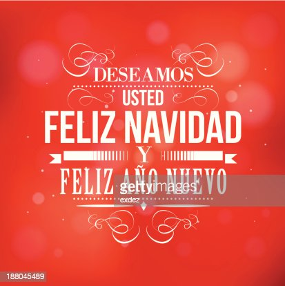 merry christmas and happy new year in spanish vector art getty images