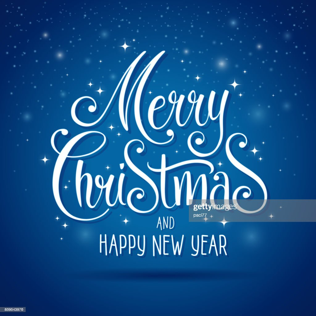 merry christmas and happy new year lettering for greeting card high res vector graphic getty images https www gettyimages co nz detail illustration merry christmas and happy new year lettering royalty free illustration 859543976