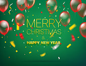 Merry Christmas and Happy new year. Vector greeting card