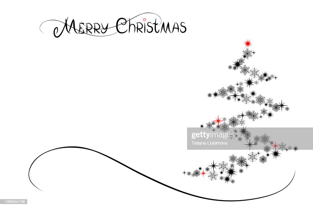 Merry Christmas and Happy New Year, vector illustration.